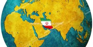 عکس با کیفیت تبلیغاتی کره زمین و پرچم ایران روی آن