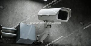 عکس با کیفیت تبلیغاتی دوربین مداربسته نصب شده در پارکینگ