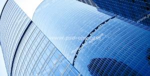 عکس با کیفیت تبلیغاتی ساختمان های مرتفع و شیشه ای