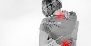عکس با کیفیت تبلیغاتی درد در ناحیه گردن و کمر