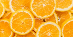 عکس با کیفیت تبلیغاتی برش های حلقه ای پرتقال بر روی یکدیگر