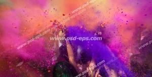 عکس با کیفیت تبلیغاتی فستیوال هولی؛ جشن رنگ در هند