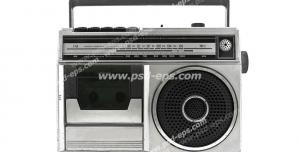 عکس با کیفیت تبلیغاتی رادیو ضبط کاست خور قدیمی
