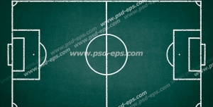 عکس با کیفیت تبلیغاتی نقشه زمین فوتبال بر روی تخته سیاه