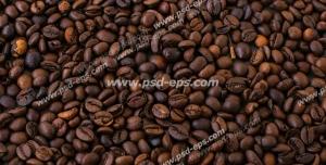 عکس با کیفیت تبلیغاتی دانه های قهوه خوش عطر