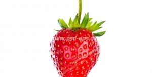 عکس با کیفیت تبلیغاتی یک توت فرنگی درخشان