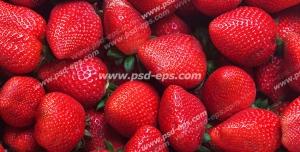 عکس با کیفیت تبلیغاتی توت فرنگی های قرمز و بزرگ در کنار یکدیگر