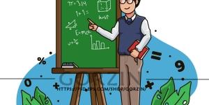 عکس معلم کارتونی دوربری شده
