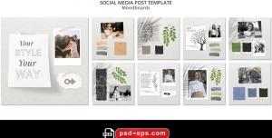 لایه باز بنر پست اینستاگرام در 9 طرح مختلف با تصاویر با کیفیت با موضوع تابلو ايدهها