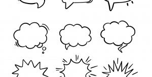 وکتور ابر فکر ، ابر گفتگو با فرمت EPS