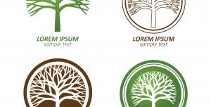 وکتور لوگوی درخت