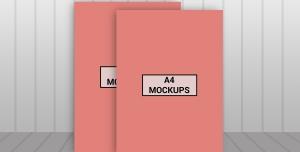موکاپ (ورق یا برگه A4)