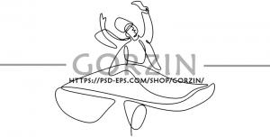 5 عدد تصویر رقص سماع دوربری شده PNG