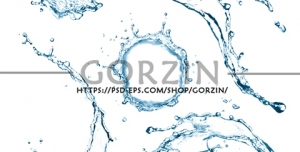 تصویر آب پرتاب شده به هوا دوربری شده PNG