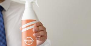 موکاپ(بطری اسپری تمیزکننده)