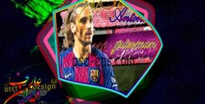 فایل psd تصویر بازیکن فوتبال در ورزشگاه به همراه فایلjpg