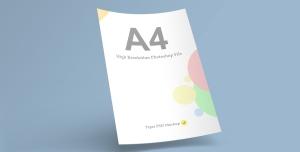 موکاپ مدل کاغذ A4