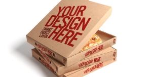 موکاپ مدل جعبه پیتزا