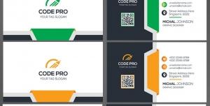 کارت ویزیت لایه باز شرکتی ، شخصی و رسمی و انواع مشاغل با طراحی بسیار شیک و مدرن و زیبا و رنگ بندی آبی و سبز و نارنجی و قرمز