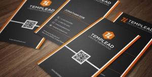 کارت ویزیت لایه باز شرکتی ، شخصی و رسمی و انواع مشاغل با طراحی بسیار شیک و زیبا و رنگ بندی مشکی و نوار های نارنجی و سفید در کنار کارت
