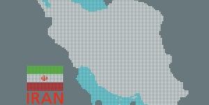 دانلود طرح نقطه ای نقشه ایران