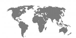 دانلود طرح نقطه ای نقشه جهان