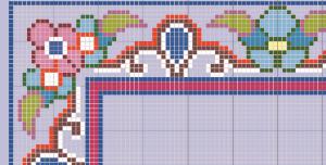 نقشه فرش شطرنجی و کامپیوتری