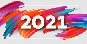 وکتور تبریک سال نوی میلادی ۲۰۲۱