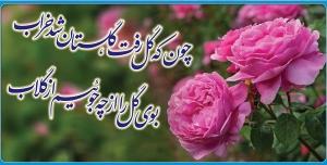 بنر تزئینی گل و شعر گلاب