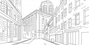وکتور نقاشی شهر