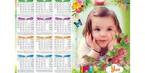 تقویم لایه باز 1400 با طرح کودک(4)