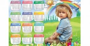 تقویم لایه باز 1400 با طرح کودک